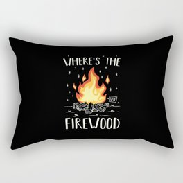 Camping - Wheres The Firewood Rectangular Pillow
