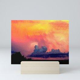 Lightning over Madison Mini Art Print