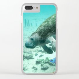 Large  Manatee Clear iPhone Case