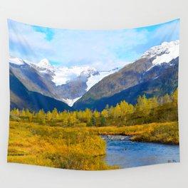 Autumn in Portage Valley - Alaska Wall Tapestry