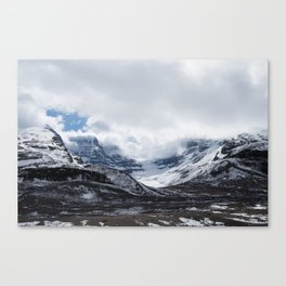 Jasper Glaciers | Landscape Photography | Mountains and Clouds | Skyscape Canvas Print