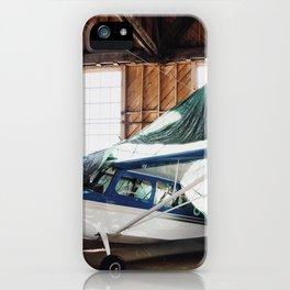 hangar airplane iPhone Case