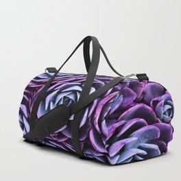 Succulent Garden Pink Purple Periwinkle Duffle Bag