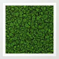 Green micropets Art Print