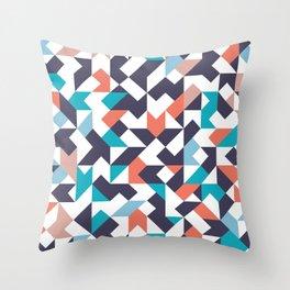 lucid color block - dark purple Throw Pillow