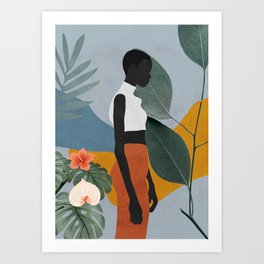 Tropical Girl 5 Art Print