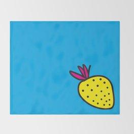 Strawberrious -Yellow/CYAN Throw Blanket