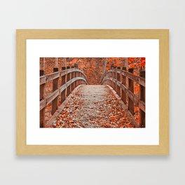 Ruby Red Bridge Framed Art Print
