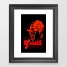 Vulnerable European Bison Framed Art Print