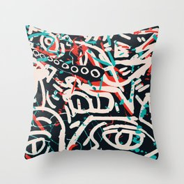 Street Art Pattern Graffiti Post Throw Pillow