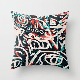 Street Art Pattern Graffiti Post Throw Pillow