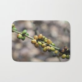 Illustration Coffee Beans Bath Mat