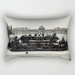 Tuileries from the Louvre Rectangular Pillow