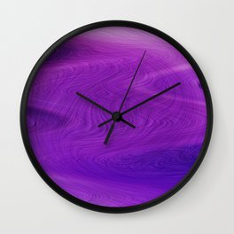 Purple daze 14 Wall Clock