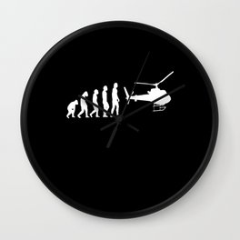 Helicopter Heli Helicopter Wall Clock