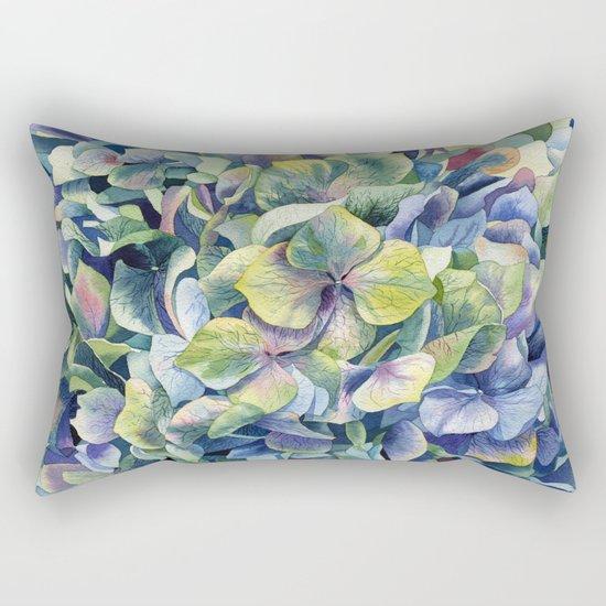"""""""Forest hydrangea"""" Rectangular Pillow"""