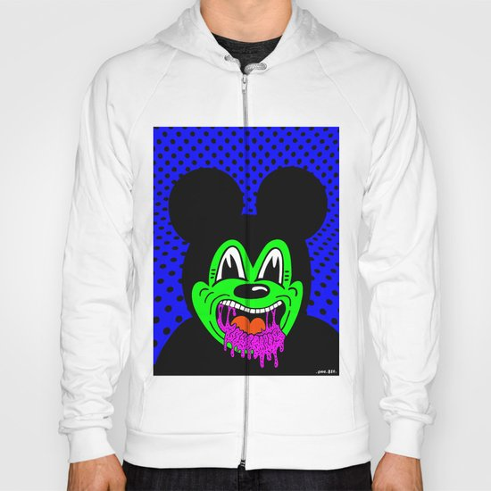 MOUSE SICK.  (On Blue). Hoody