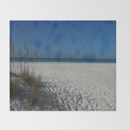 A Peaceful Day At A Marvelous Gulf Shore Beach Throw Blanket