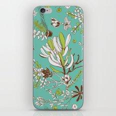 Teal Cradle Flora iPhone & iPod Skin