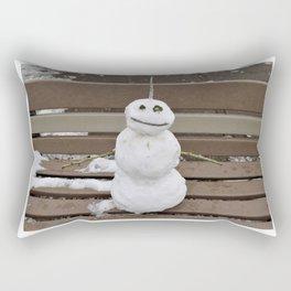 Lucky Snowman Rectangular Pillow