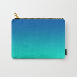 Teal Mint Ombre Carry-All Pouch