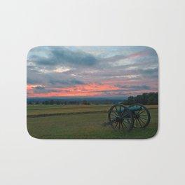 Gettysburg Cannon Sunset Bath Mat
