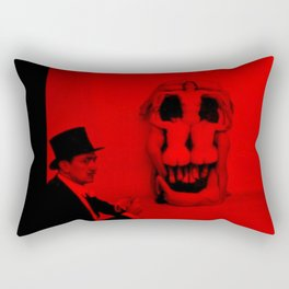 Salvador Dali with Women Skull (Photographic Art) Rectangular Pillow