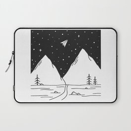 """Fly Away"" - Paper Plane Landscape Laptop Sleeve"