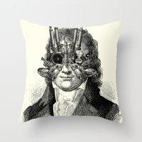 steampunk Throw Pillows featuring Steampunk by DIVIDUS