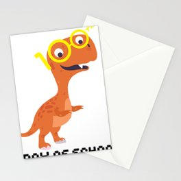 Dinosaur T-Rex 100th Day Of School Funny Gifts Stationery Cards