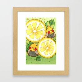 Lemonade Birds Framed Art Print