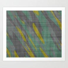 Yellow Gray and Green Art Print