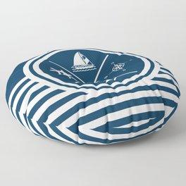 Sailing symbols Floor Pillow