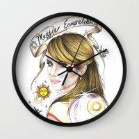 ahs Wall Clocks featuring Maggie Esmerelda-AHS by MELCHOMM