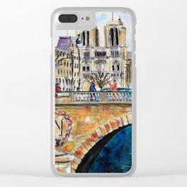 Pont St Michel Clear iPhone Case