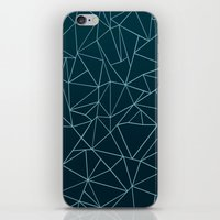 Ombre Ab Teal iPhone & iPod Skin
