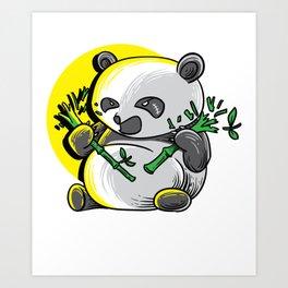 Panda monium Pandamonium shirt angry Kawaii panda Art Print