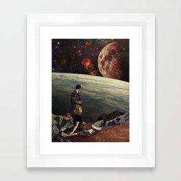 The Roses Came Framed Art Print