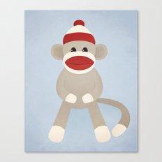 Sock Monkey Canvas Print