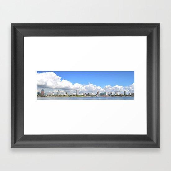 To Long Beach I Go Framed Art Print