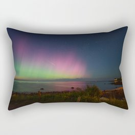 Pink Aurora at Old Garden Beach Rectangular Pillow