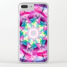 Vector Colorful Design Clear iPhone Case