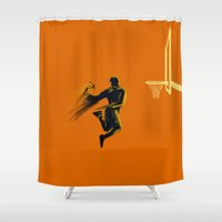 basketball Shower Curtains featuring Basketball  by Enzo Lo Re