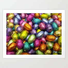 Chocolate Easter Eggs! Art Print