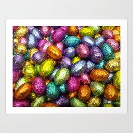 Chocolate Easter Eggs! Art Print
