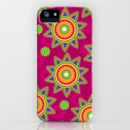 Moroccan Flower Wine iPhone Case