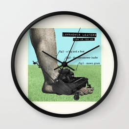 Lawnmower Loafers Wall Clock