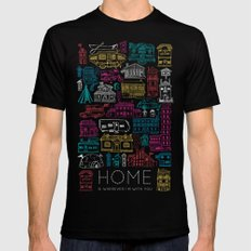 Home is Wherever I'm With You Black Mens Fitted Tee SMALL