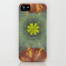 Trabes Stripped Flowers  ID:16165-151640-97070 iPhone Case