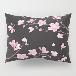 Cherry Blossom - Black Pillow Sham